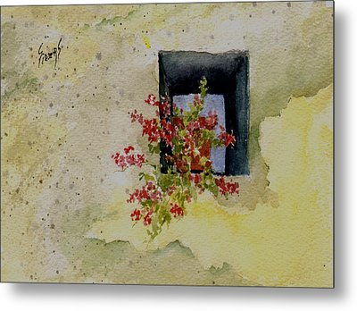 Niche With Flowers Metal Print by Sam Sidders