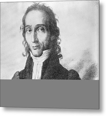 Nicholo Paganini, Italian Violinist Metal Print by Science Photo Library
