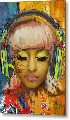Nicki Minaj Metal Print by Corporate Art Task Force
