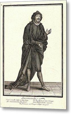 Nicolas Bonnart French, 1636 - 1718. Scaramouche Metal Print by Litz Collection