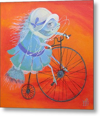 Metal Print featuring the painting Niece Sonia by Marina Gnetetsky