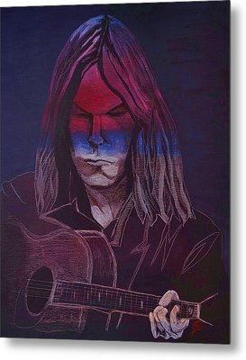 Neil Young   Patriot Metal Print