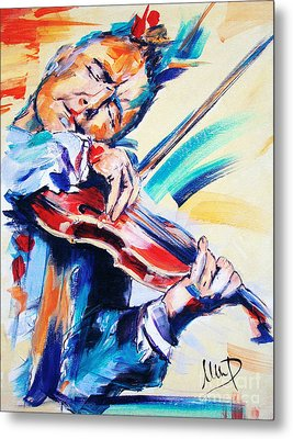 Nigel Kennedy Metal Print by Melanie D