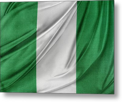 Nigerian Flag Metal Print by Les Cunliffe