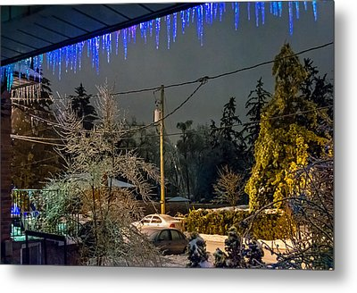 Night After The Ice Storm Metal Print by Steve Harrington