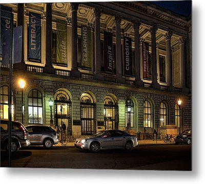 Metal Print featuring the photograph Night At The Library by Robert Culver