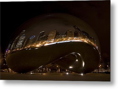 Night Bean Metal Print by Margaret Guest