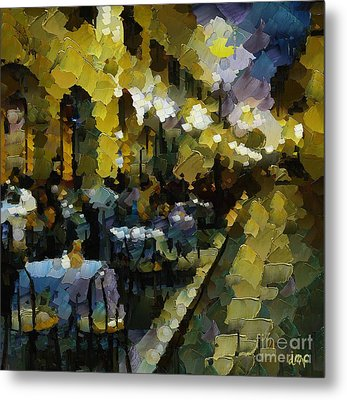 Night Cafe Metal Print by Dragica  Micki Fortuna
