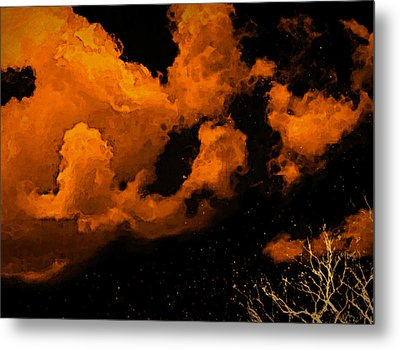 Metal Print featuring the painting Night Clouds by Persephone Artworks