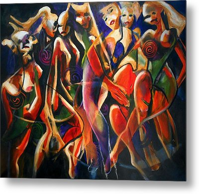 Metal Print featuring the painting Night Dance by Georg Douglas