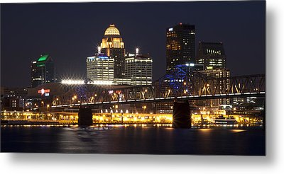 Metal Print featuring the photograph Night Descends Over Louisville City by Deborah Klubertanz