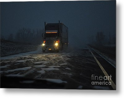 Night Driver Metal Print