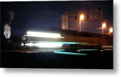 Night Express - Union Pacific Engine Metal Print by Steven Milner