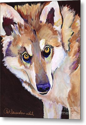 Night Eyes Metal Print by Pat Saunders-White