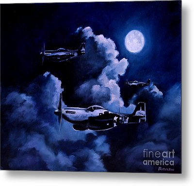 Metal Print featuring the painting Night Flight by Stephen Roberson