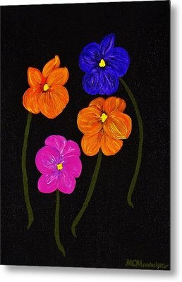 Metal Print featuring the painting Night Glow by Celeste Manning