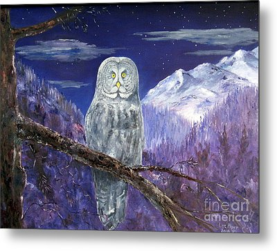 Metal Print featuring the painting Night Hunter by Lee Piper