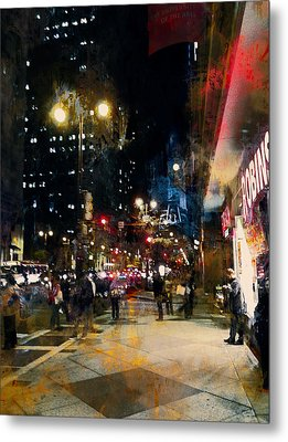 Night In The City Metal Print by John Rivera