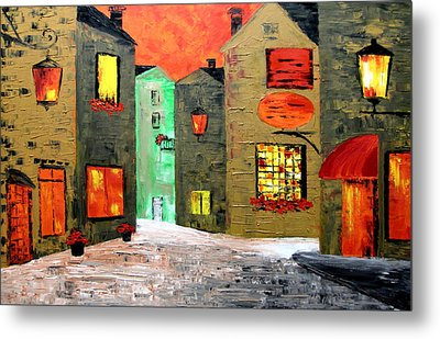 Night In The Town Metal Print by Mariana Stauffer