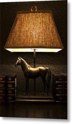 Night Lamp Metal Print by Radoslav Nedelchev