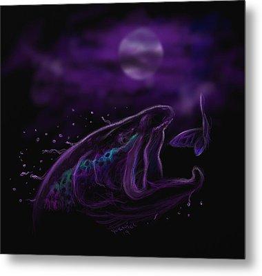 Night Life At The River  Metal Print by Yusniel Santos