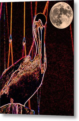 Metal Print featuring the photograph Night Light by Robert McCubbin