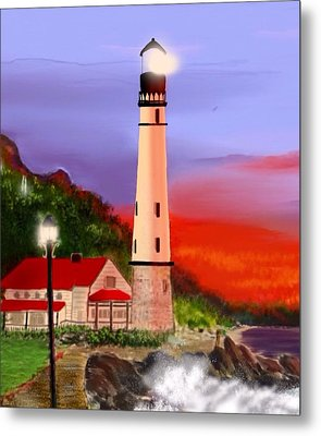 Metal Print featuring the digital art Night Lights 2 by Anthony Fishburne
