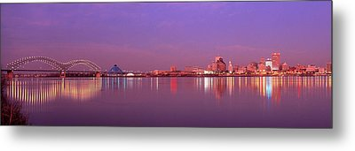 Night Memphis Tn Metal Print