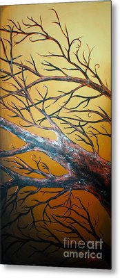Night Of The Eclipse Panel 3 Metal Print by Teshia Art