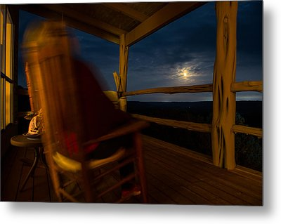 Night On The Porch Metal Print