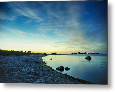 Metal Print featuring the photograph Night Overtaking The Sky by Alex Weinstein
