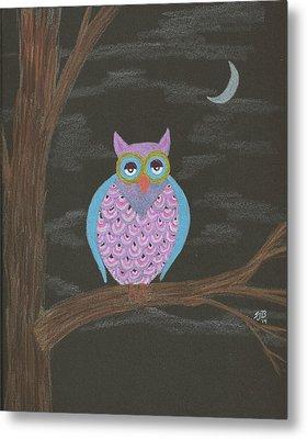 Night Owl Metal Print by Sheila Byers