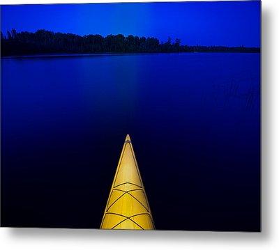Night Paddle Metal Print