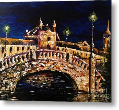 Night Passage Metal Print by Karen  Ferrand Carroll