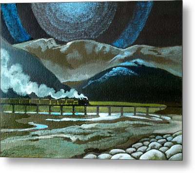 Night Passage - Ww480 Steam Metal Print by Patricia Howitt