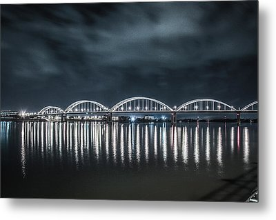 Night Reflections Metal Print by Ray Congrove