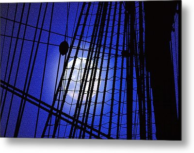 Metal Print featuring the photograph Night Rigging by Mike Flynn