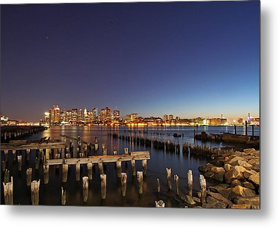 Night Sky Hunter Orion Over Boston  Metal Print by Juergen Roth