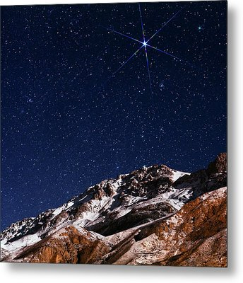 Night Sky Over The Alborz Mountains Metal Print by Babak Tafreshi