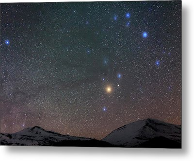 Night Sky Over The Alps Metal Print by Babak Tafreshi