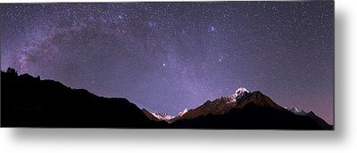 Night Sky Over The Himalayas Metal Print by Babak Tafreshi