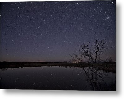 Night Sky Reflection Metal Print by Melany Sarafis