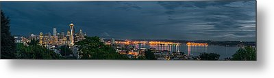 Night Skyline Metal Print