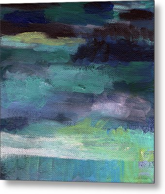 Night Swim- Abstract Art Metal Print