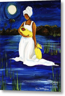 Metal Print featuring the painting Night Tide by Diane Britton Dunham
