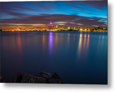 Night Time In The D Metal Print