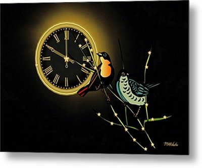 Metal Print featuring the digital art Night Time by Mary Anne Ritchie