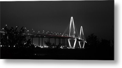 Night Time On The Bridge Metal Print by Andrew Crispi
