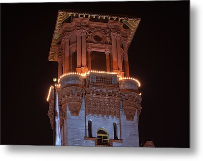 Night Tower Metal Print by Kenneth Albin