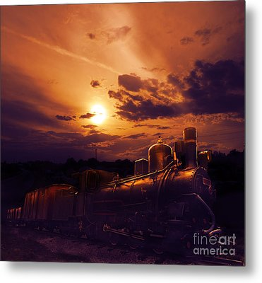 Night Train Metal Print by Jelena Jovanovic